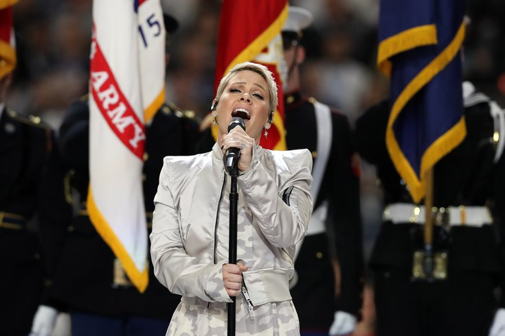 pink national anthem super bowl