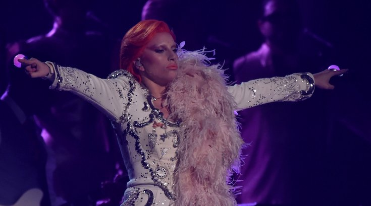 Lady Gaga performs a tribute to David Bowie