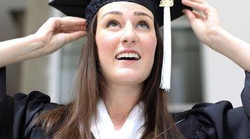 Rachel Hall graduates