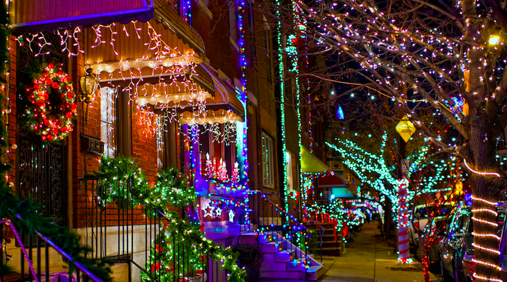 Holiday lights in South Philly