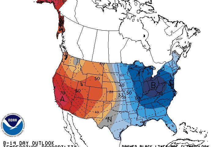 NOAA arctic air forecast