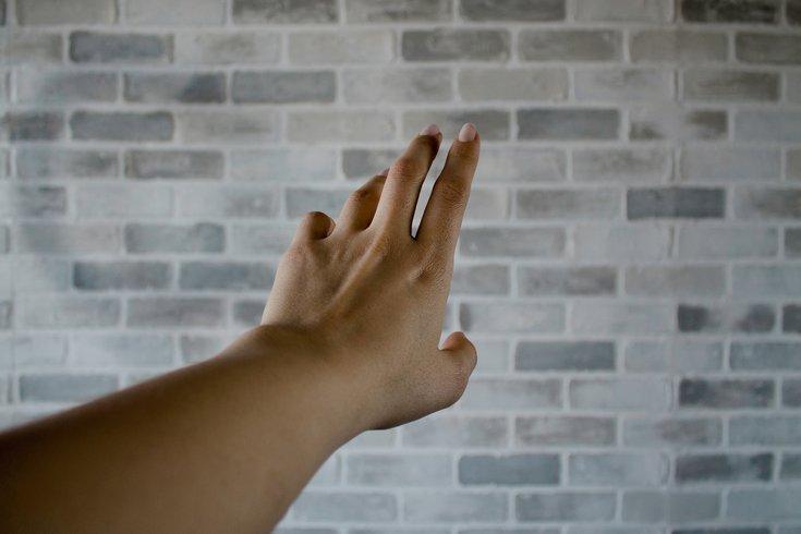Biting fingernails