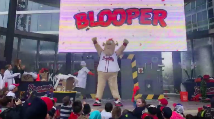 Blooper Atlanta Braves Mascot