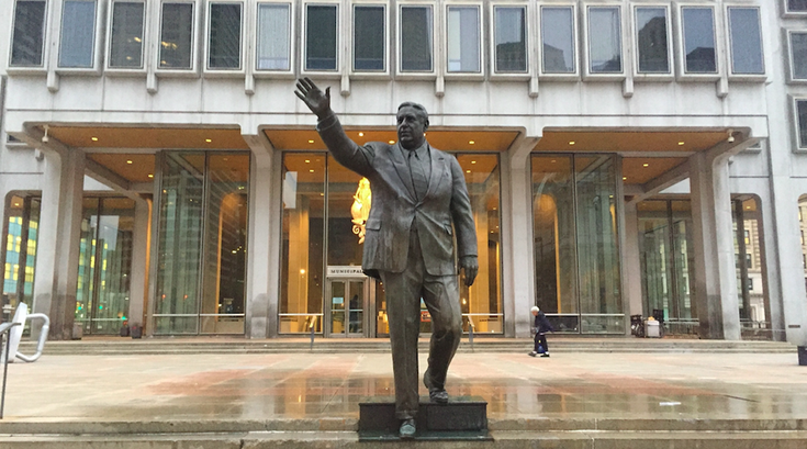 Frank Rizzo statue cleaned
