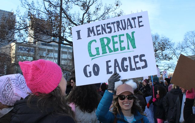 Philly women's march eagles 2