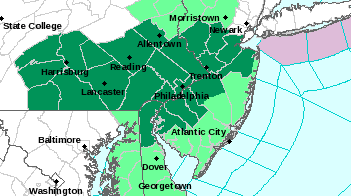 flood warning philly map