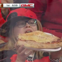 Flyers fans pizza