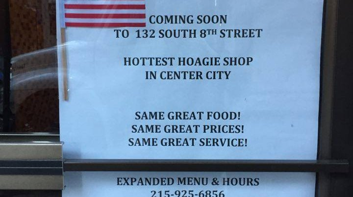 New Hoagie Shop Jewelers Row