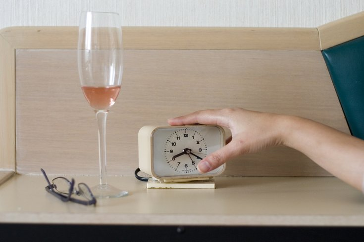Alcohol on nightstand