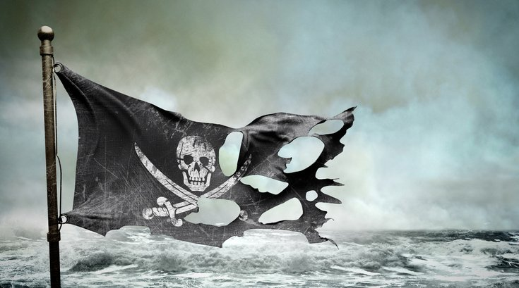 Pirate ship flag