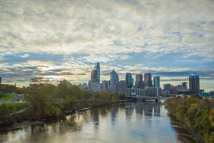 Philadelphia Skyline and River Dusk