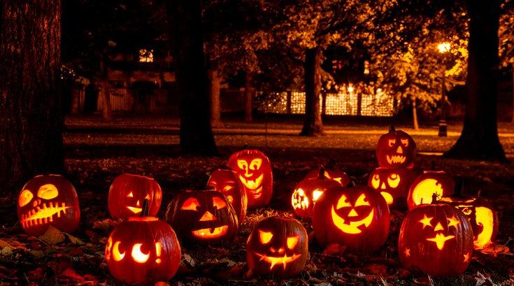 Lighted Halloween Pumpkins