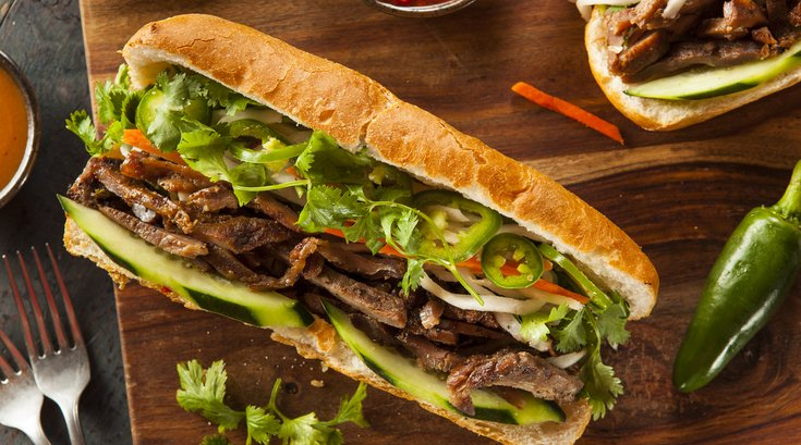 Vietnamese Pork Banh Mí Sandwich