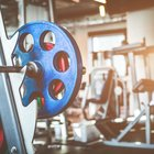 Weights and machines at gym