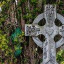 A celtic gravestone