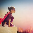 Little girl hero