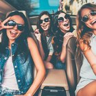 Friends hanging out in the car