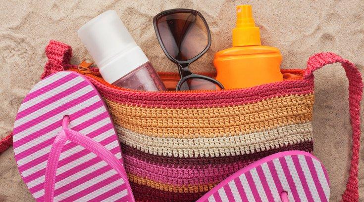 Beach Bag with Sunscreen
