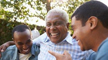 Dad laughing