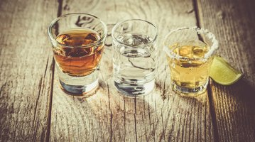 Tequila shots for Cinco de Mayo