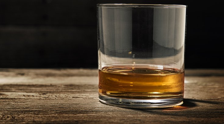 Single Glass of Straight Bourbon