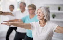 Elderly Women in Group Wellness Class