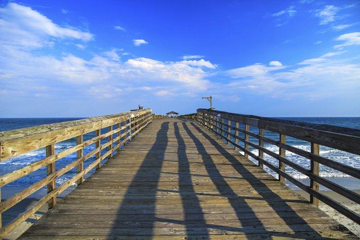 Boardwalk beach scene