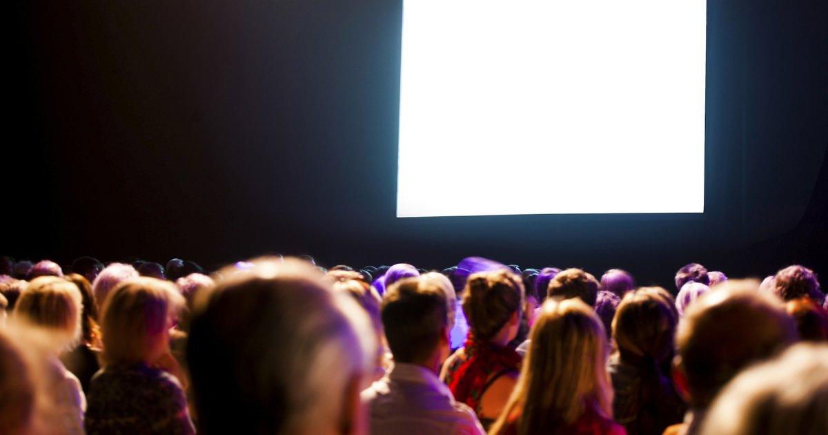 Как сделать на большой экран фильм