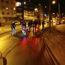 Bike cycling night