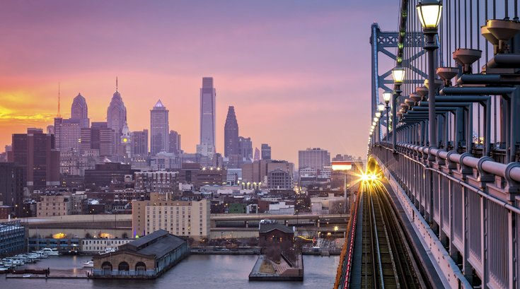 Philadelphia Skyline from Ben Franklin Bridge