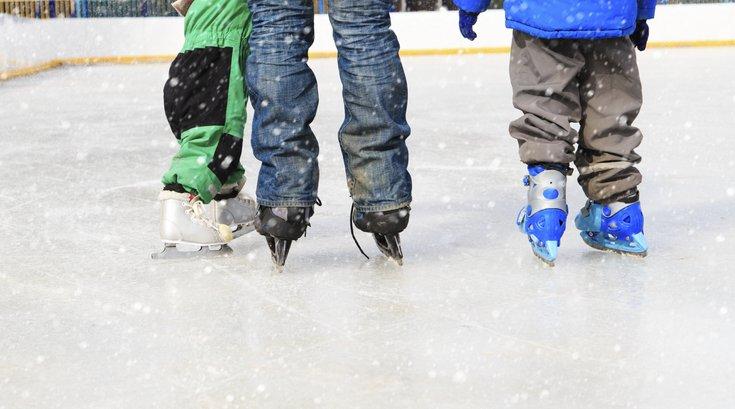Family ice-skating