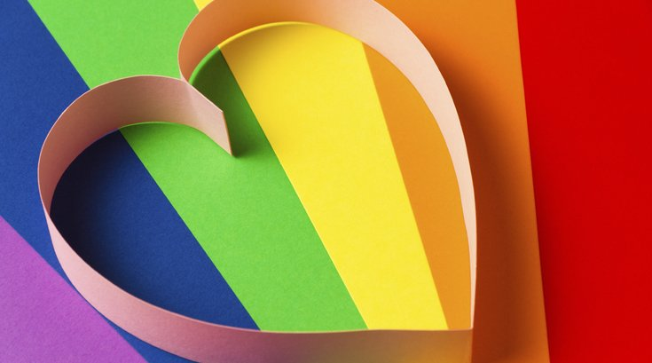 Rainbow Paper Heart