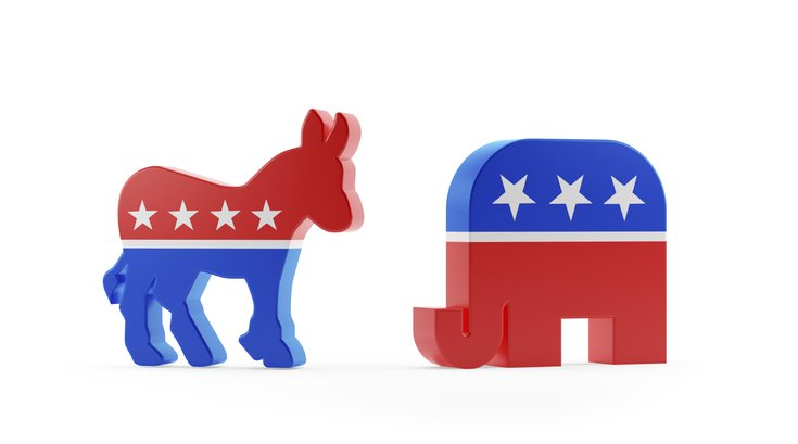 Donkey and Elephant Political Symbols