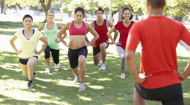 group workout outside