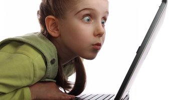 Child Staring Computer Screen