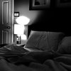 insomnia bedroom at night