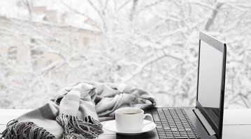 Computer in the snow