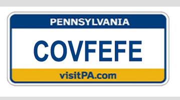 License plate covfefe