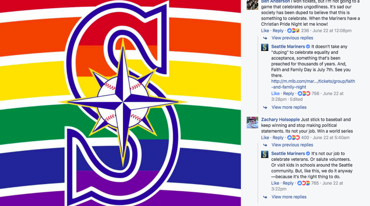Mariners LGBTQ Facebook