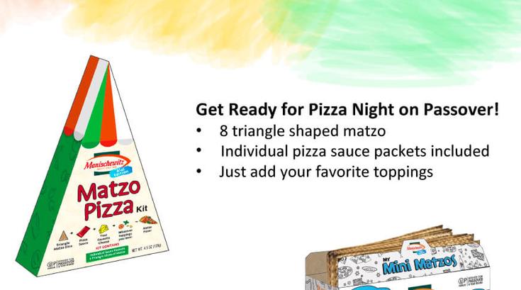 Manischewitz's new Matzo Pizza Kit.