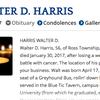 Walter Harris Obituary