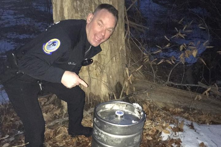 Upper Darby officer with keg