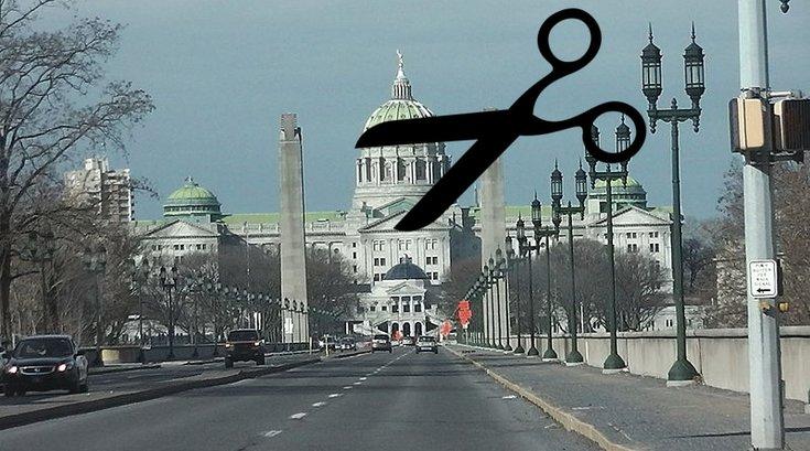 The Pennsylvania State Capitol Scissors