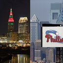 Philly Cleveland Skylines