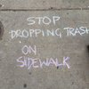 South Philly Litter Sidewalk Chalk