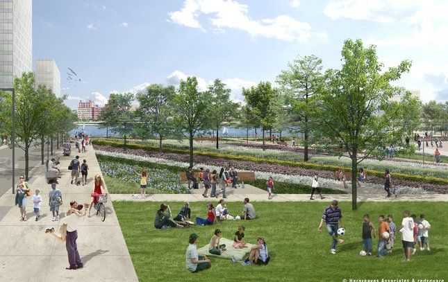 penn's landing civic space front and chestnut