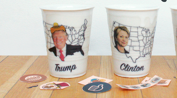 Clay Studio political ceramic cups