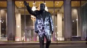 Frank RIzzo Statue Spray Paint