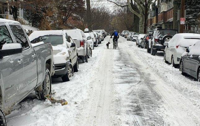 Wissahickon snow Sumac Street