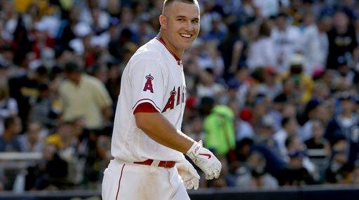 Angels Trout Crash Baseball